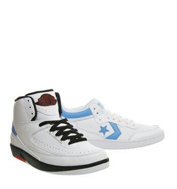 Lot de 2 paires de Baskets Air Jordan II x Converse All Star - Tailles :39/5, 40 ou 41/5