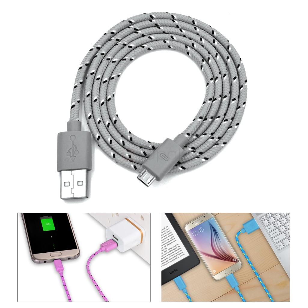 Câble Micro USB en Nylon - 1 Mètre (Livraison incluse)