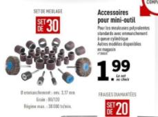 Lot de 30 accessoires  pour mini- outils multifonctions Parkside