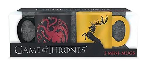 Lot de 2 Mini-Mugs Game of Thrones 110 ml - Targaryen et Baratheon (via 15€ sur la carte)