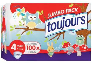 Sélection de packs de couches en promo - Ex : Pack de 112 couches tailles Jumbo Pack