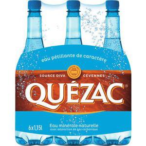 3 Packs d'eau minérale naturelle de Quézac