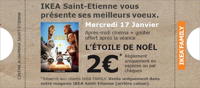 """[Carte Ikea Family] Place de cinéma à 2€ pour le film : """"L'étoile de Noël"""" le 17 janvier + goûter offert - Ikea Saint Etienne (42)"""
