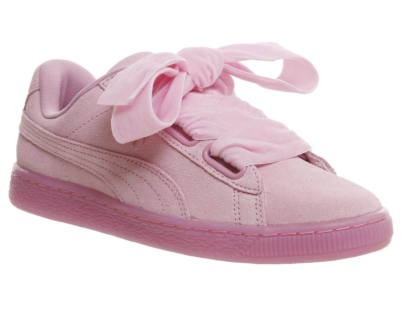 Baskets Puma Heart Suede rose ou bleu - Différentes tailles