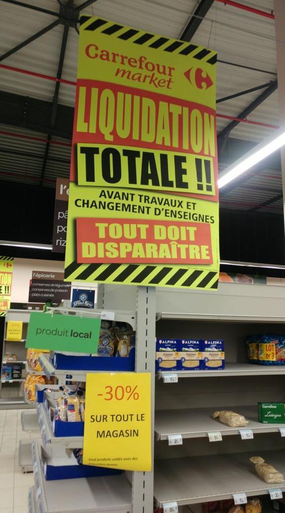 30% de réduction sur tout le magasin - Carrefour Market Sarrebourg (57)