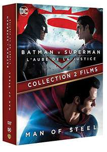 Coffret DVD Batman v Superman : L'Aube de la justice + Man of Steel à 4.96€ ou version Blu-ray à 7.94€