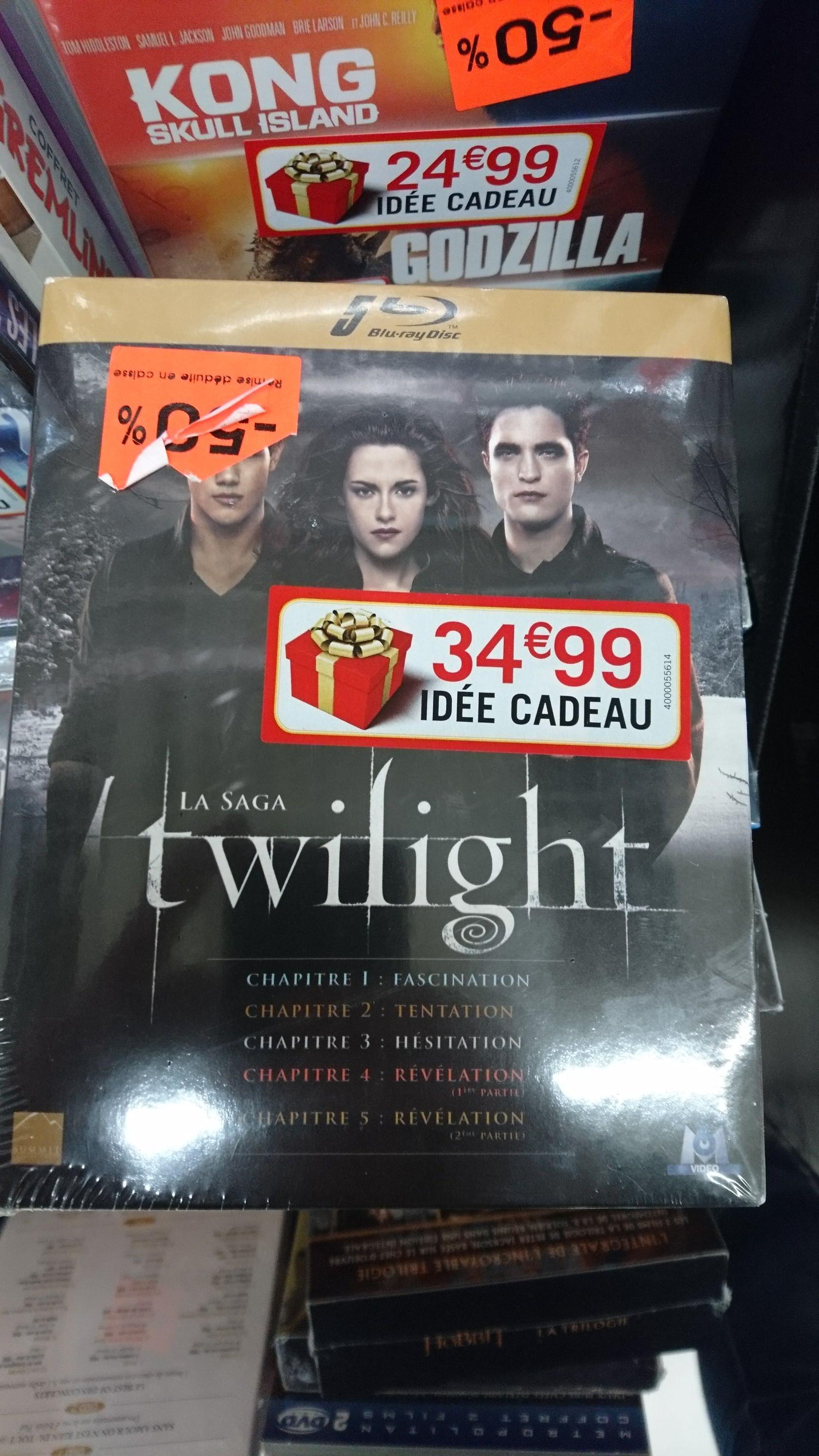 Sélection de Blu-ray / DVD en promotion - Ex : coffret Blu-ray Twilight - La Saga chez Auchan Saint-Quentin (02)