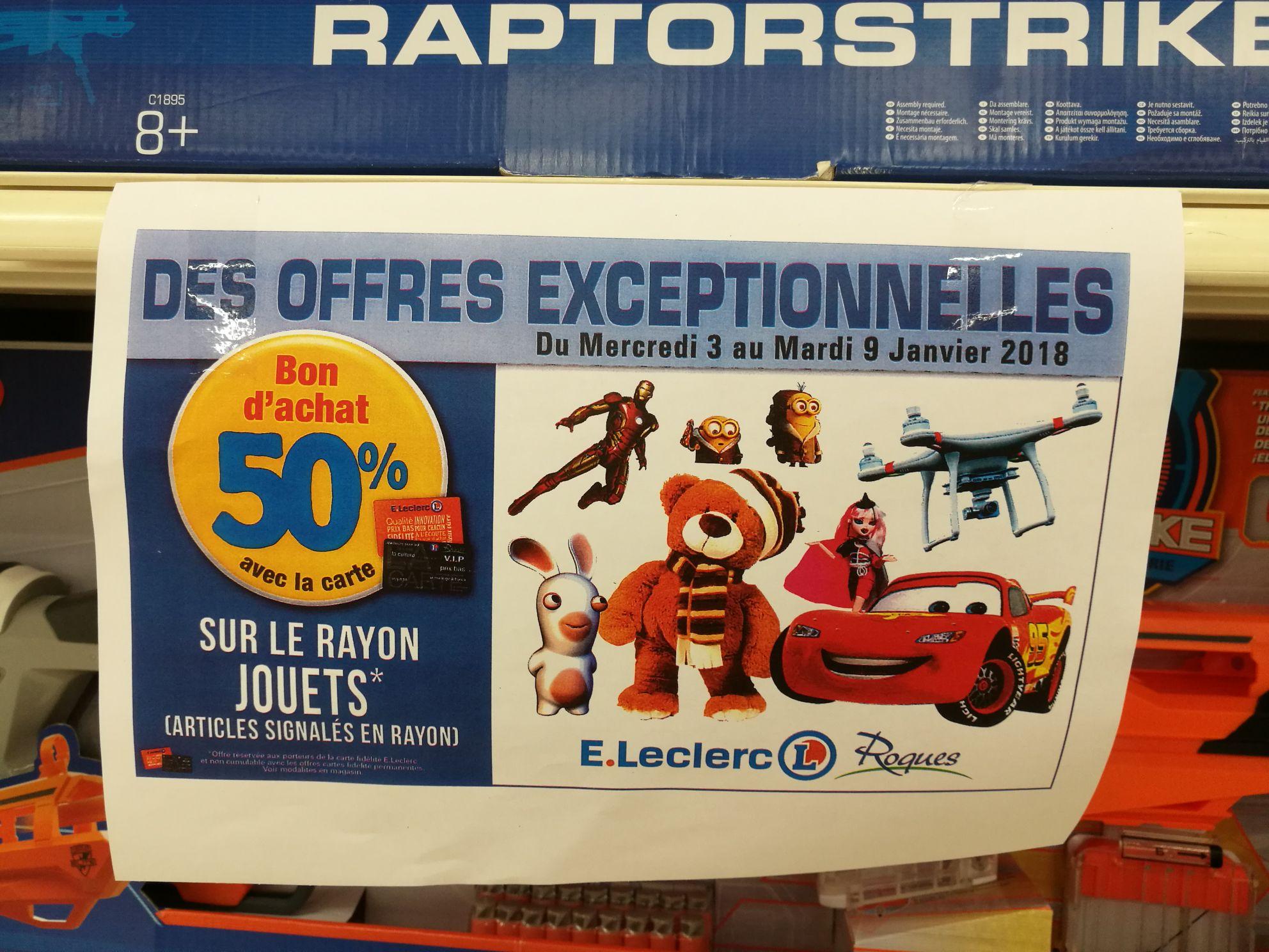 50% offerts en bon d'achat sur une sélection de jouets - Roques sur Garonne (31)