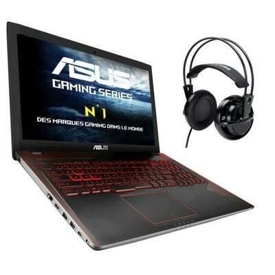 """[Cdiscount à volonté] PC Portable 15.6"""" Asus FX552VE-DM380T - i5-7300HQ, 6 Go de RAM, 1 To + 128 Go en SSD, GeForce GTX-1050 Ti + Casque audio Asus"""