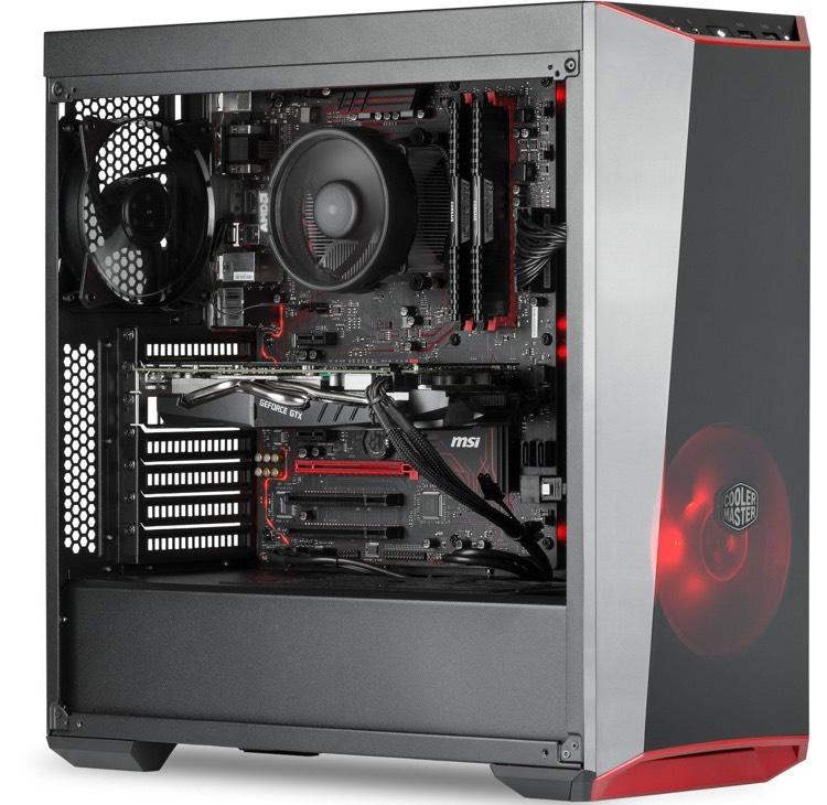 PC de bureau Spectre - AMD Ryzen 5 1600, 16 Go de Ram, 1 To + 120 Go SSD, GeForce GTX 1060 Exoc 6 Go