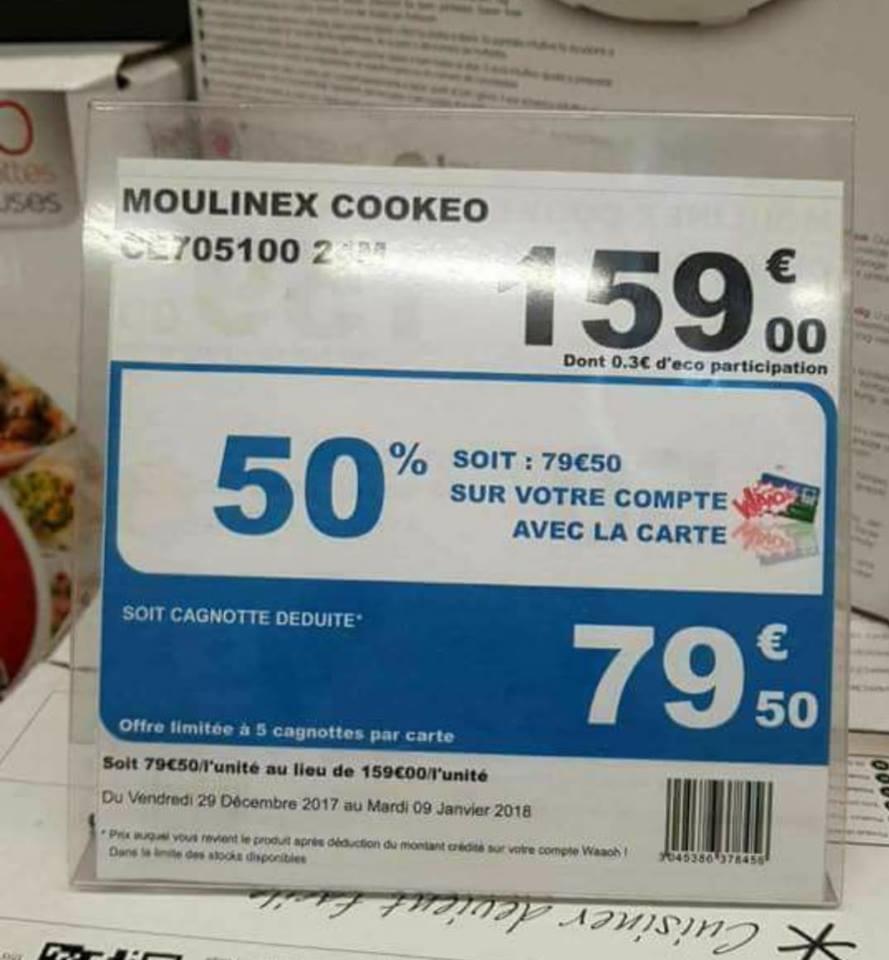 Robot cuiseur Moulinex Cookeo CE705100 (via 79.50e sur la carte fidélité, Auchan Issy-les-moulineaux (92))