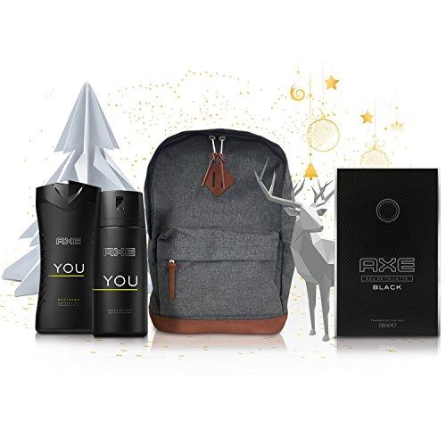 Sélection de coffrets Axe en promo - Ex : Coffret Axe :  Sac + Eau de Toilette 100ml + Déodorant 150ml + Gel Douche 250ml