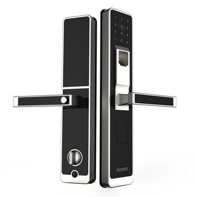 Serrure Connectée Xiaomi Aqara Smart Door Touch Lock Noir - Déverrouillage par Empreinte Digitale, Digicode, Clé ou Carte d'Accès
