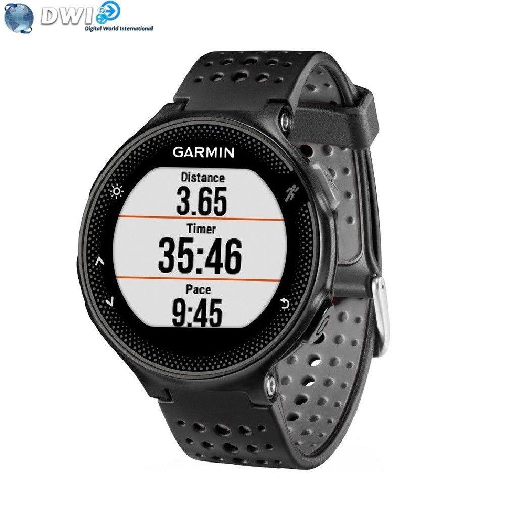 Montre de Running GPS Garmin Forerunner 235 avec Cardio au Poignet - Noir / Gris