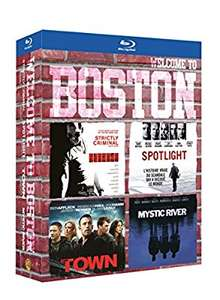 Coffret blu-ray: Strictly Criminal + Spotlight + The Town + Mystic River (4 films)