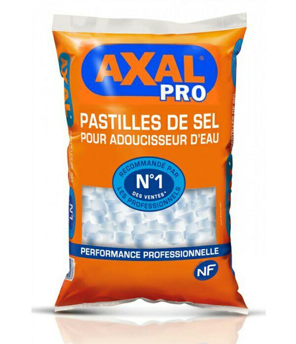 Lot de 2 sacs de sel adoucisseur AXAL de  25 kg + 1 sac de sel 10 kg