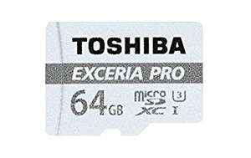 Carte microSDXC Toshiba Exceria PRO M401 U3 - 64 Go + Adaptateur SD (vendeur tiers)
