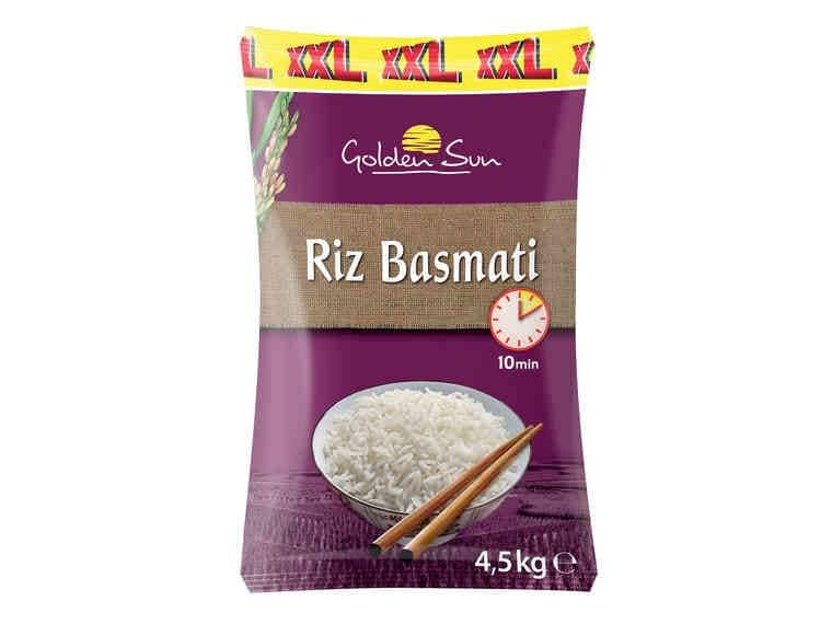 Paquet de 4.5 kg de riz Basmati