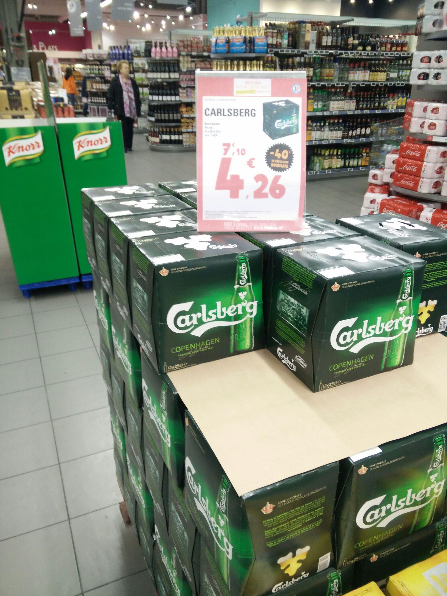 Pack de 12 bières blondes Carlsberg de 25 cl - Montauban (82)