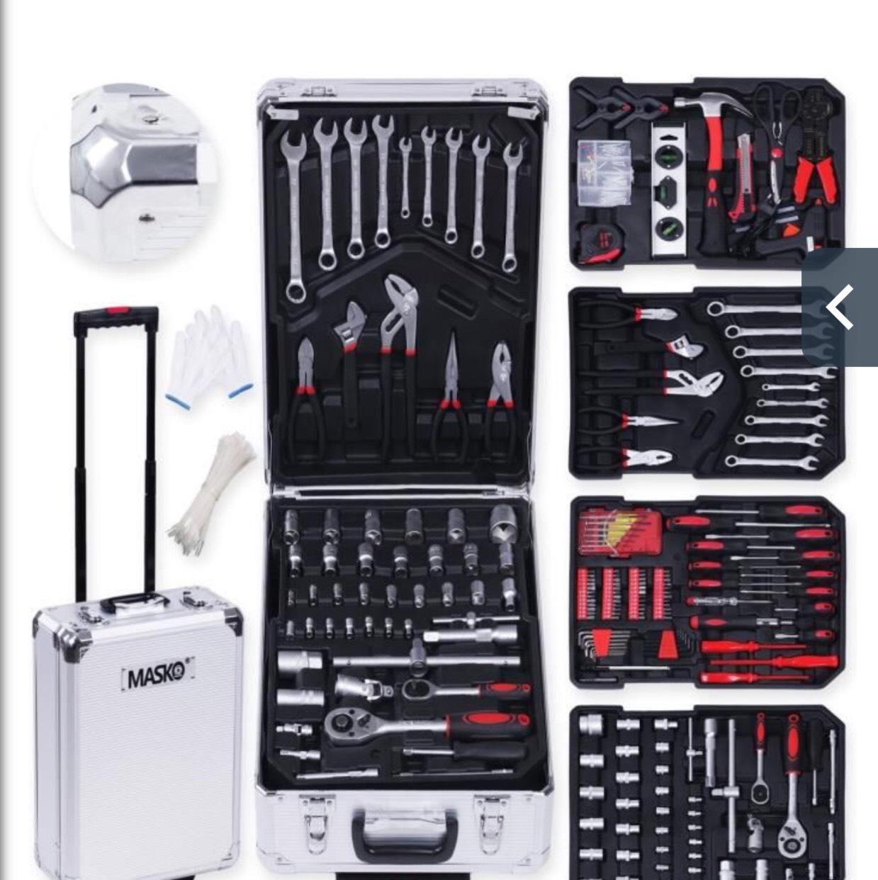 [Cdiscount à volonté] Valise à roulettes Masko multi-outils de 725 pièces - Gris