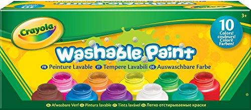 10 pots de peinture enfants - lavable - Kit créatif CRAYOLA