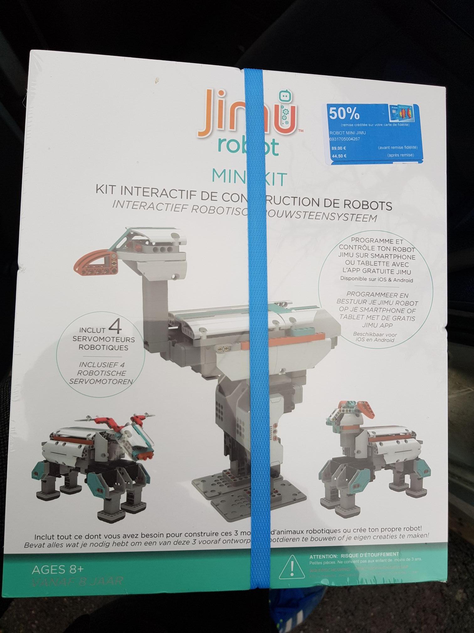 Robot connecté programmable Mini Jimu Ubtech en soldes - 50 % - Carrefour Collegien (77)