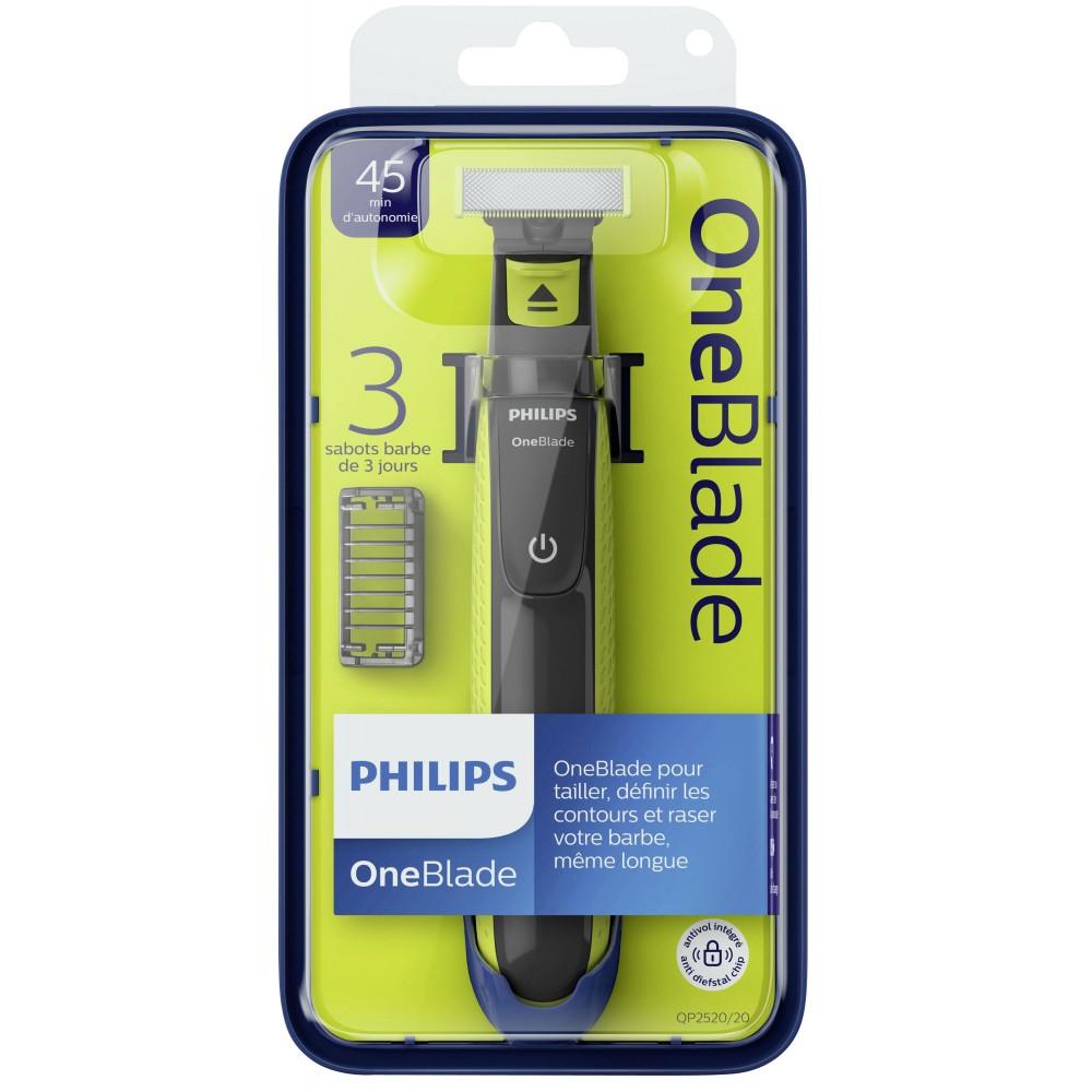 Rasoir Philips OneBlade + 3 Sabots (via 14.25€ sur la carte fidélité)