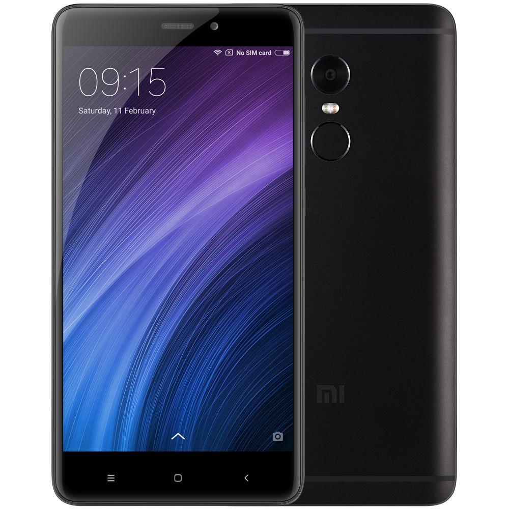 "Smartphone 5.5"" Xiaomi Redmi Note 4 - 4 Go de RAM, 64 Go, 4G (avec B20), noir (+ 56.35€ en SuperPoints)"