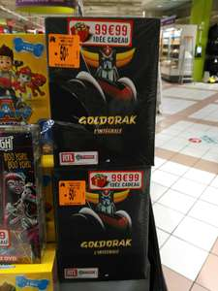 L'intégrale de Goldorak en dvd à 49,99 euros (Auchan Val d'Europe 77)