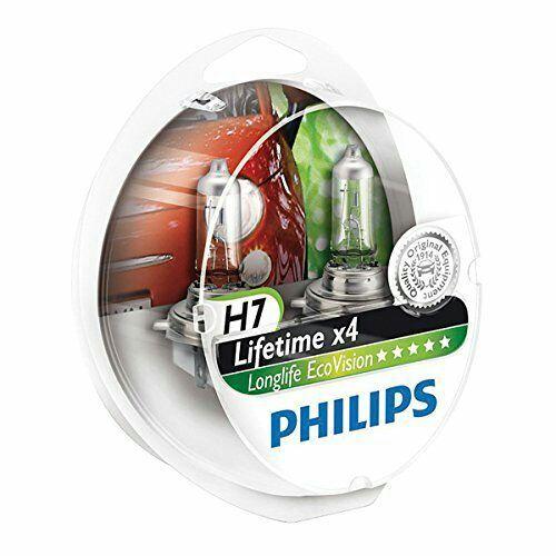 [Prime] Lot de 2 Ampoules de Phare Philips 12972LLECOS2 LongLife EcoVision H7