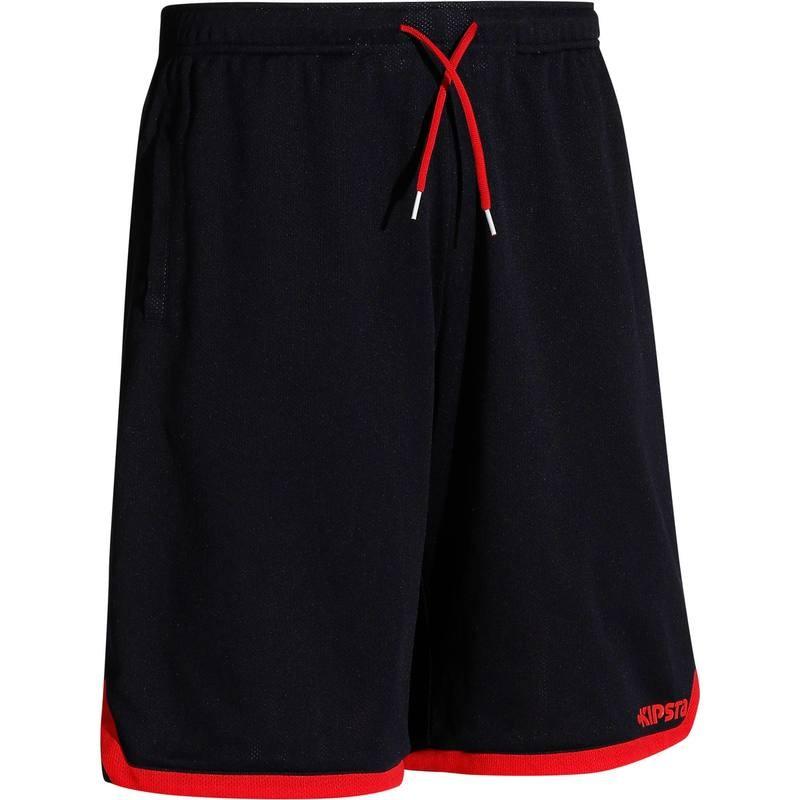 Short Réversible de Basketball Tarmak Navy / Rouge pour Hommes - Tailles au choix