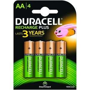 Lot 4 piles rechargeables Duracell AA 1300 mah