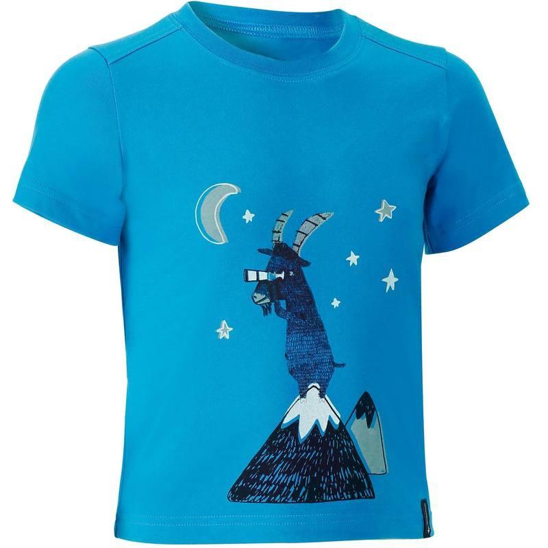 T-shirt de randonnée enfant garçon hike 500 bleu Quechua