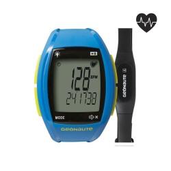 Montre et ceinture cardiofréquencemètre codée onrhythm 310 bleu Geonaute