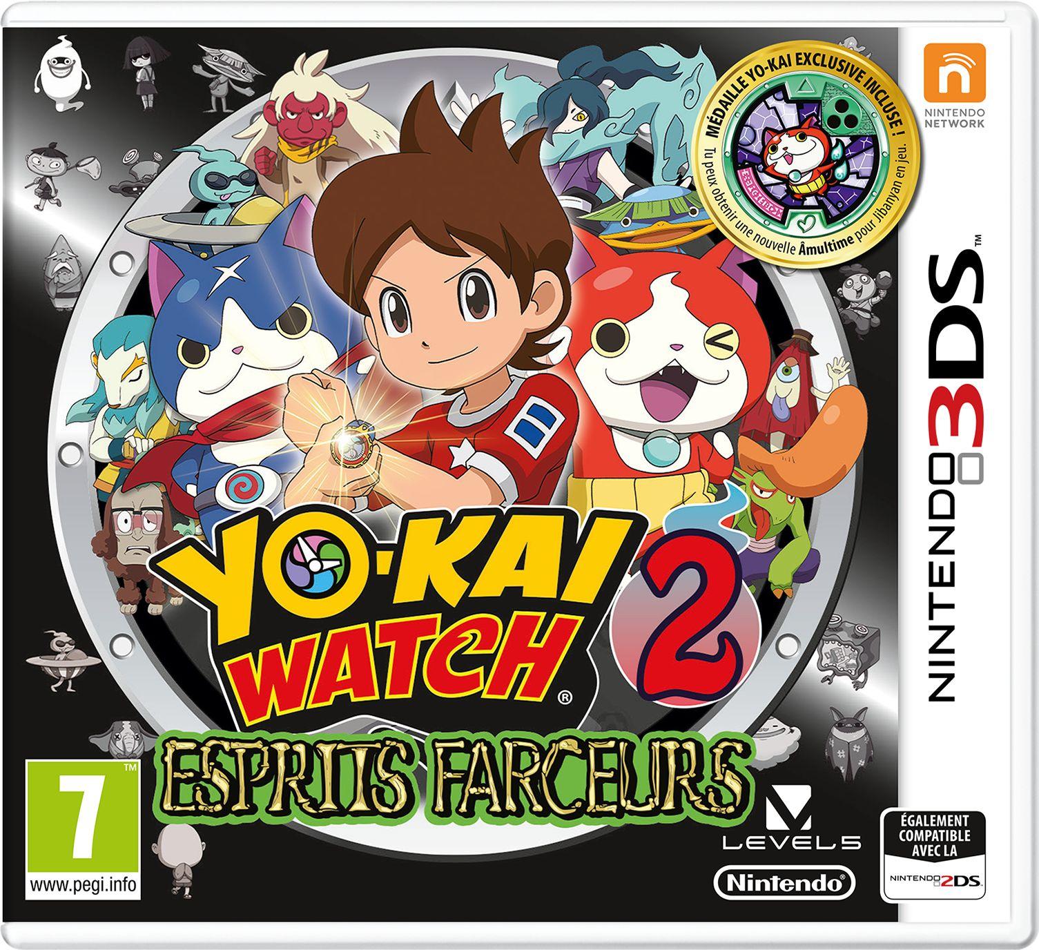 Yokai Watch 2 Esprits Farceurs sur Nintendo 3DS (jaquette allemande)