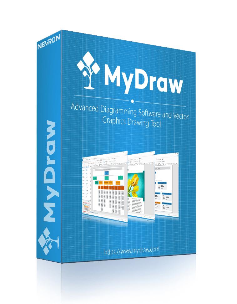 Logiciel de création de diagrammes et d'outils de dessin vectoriel MyDraw gratuit sur PC (dématérialisé)