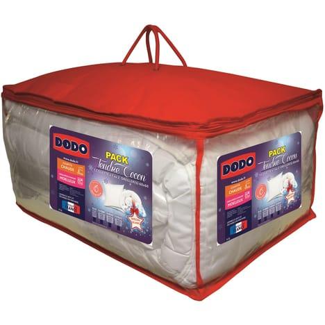 Pack Dodo Tendre Cocon - couette (260x240 cm) + 2 oreillers (60x60 cm)