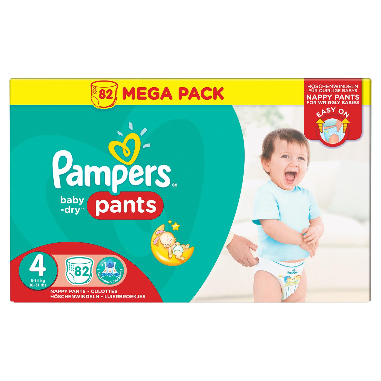 Mega Pack de Couches-culottes Pampers Baby Dry Pants - Tailles au choix (Via Carte de Fidélité + BDR)