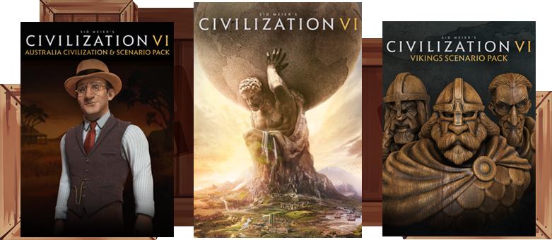 Humble Monthly Bundle : Sid Meier's Civilization VI + 2 DLC packs + 6 jeux sur PC (Dématérialisés - Steam)