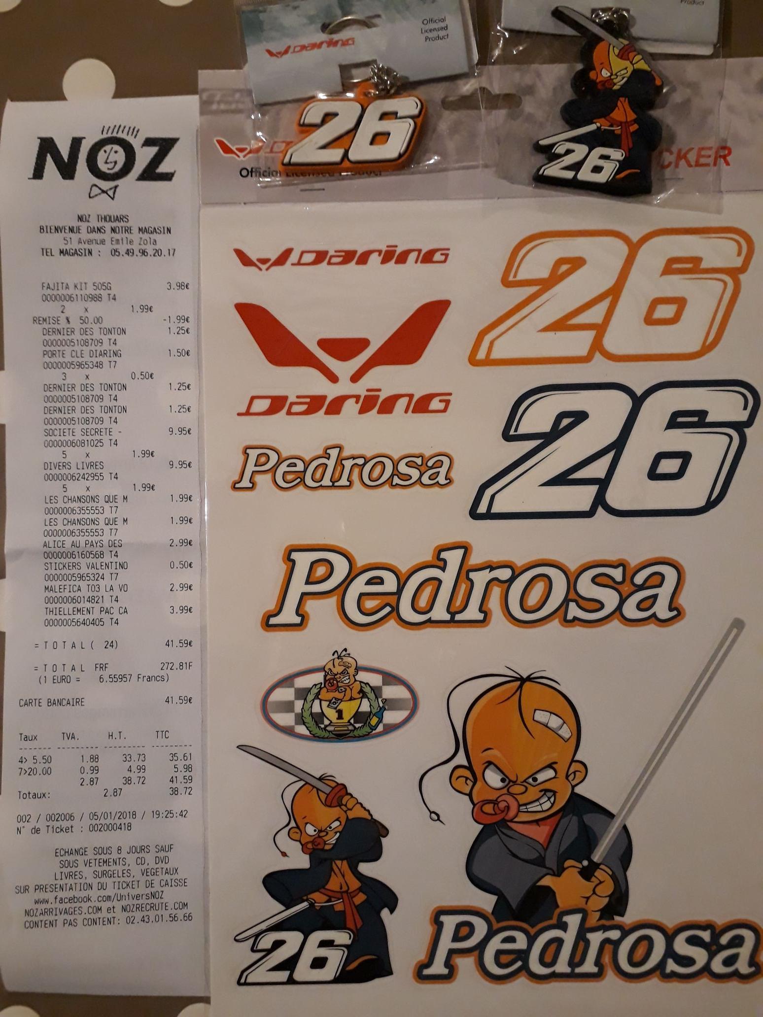 Sélection de produits en Promotion - Ex: Autocollants ou Porte-clés Dani Pedrosa 26 Honda - Thouars (79)