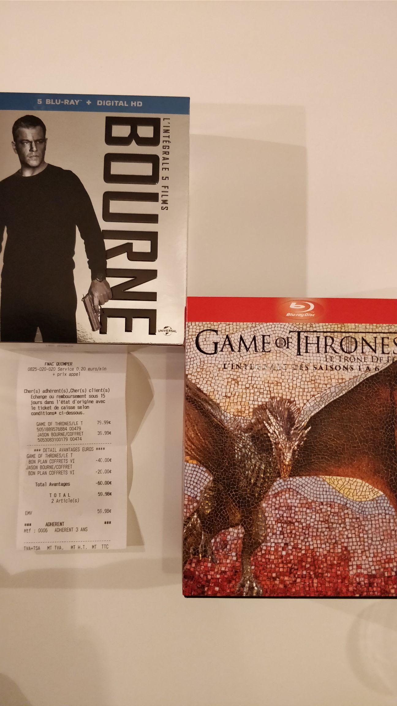 Sélection de coffrets Blu-ray en promotion - Ex: Coffret Blu-ray Game of Thrones Intégrale saisons 1-6 - Quimper (29)