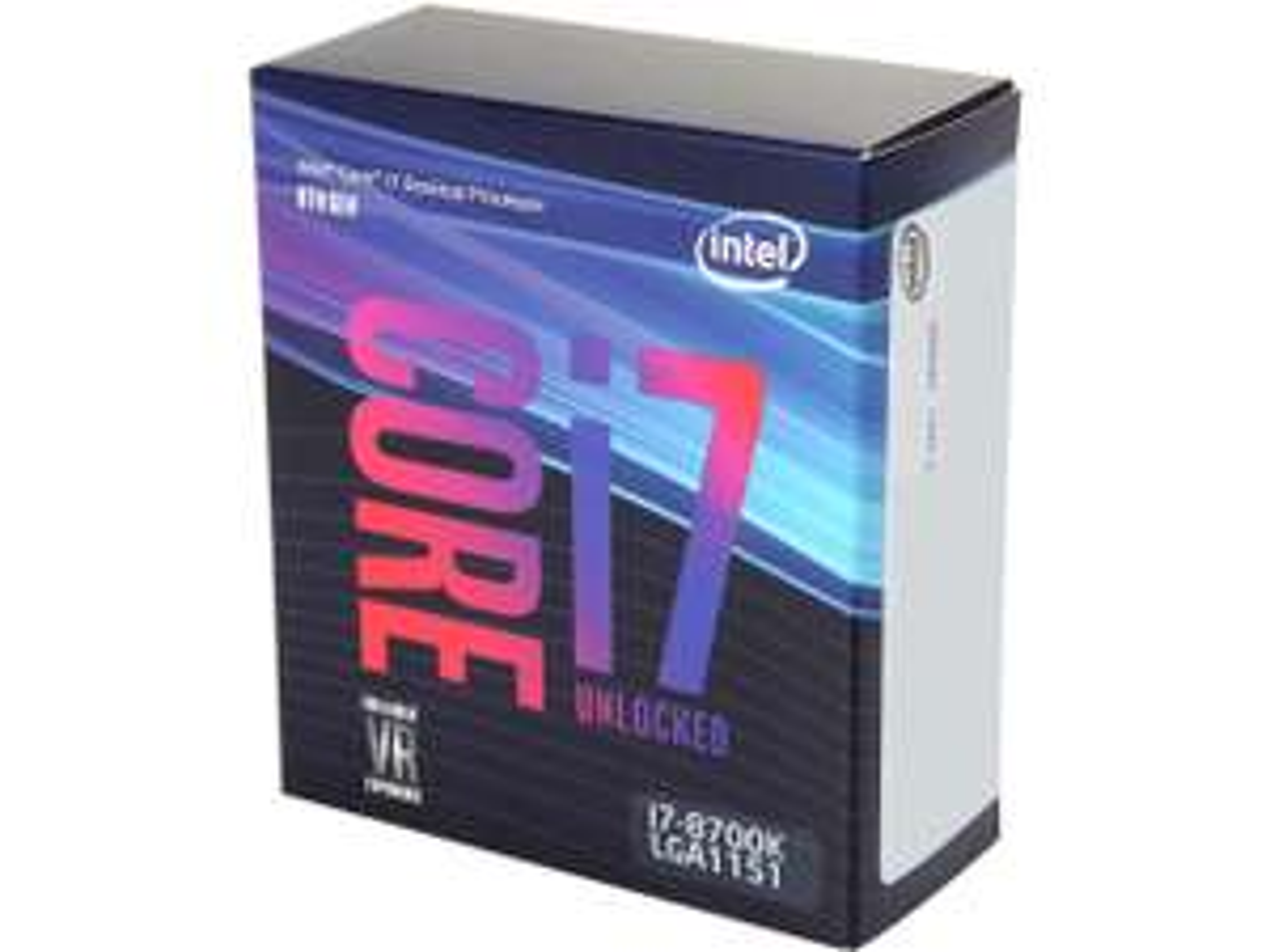 Processeur Intel Core i7-8700K 3.7GHz (4.7 GHz), 6C/12T