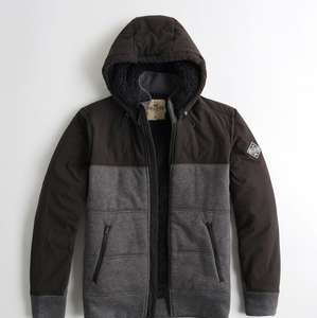 Veste Sherpa Hollister Sherpa-Lined Quilted Fleece Jacke - Paris beaugrenelle (75)