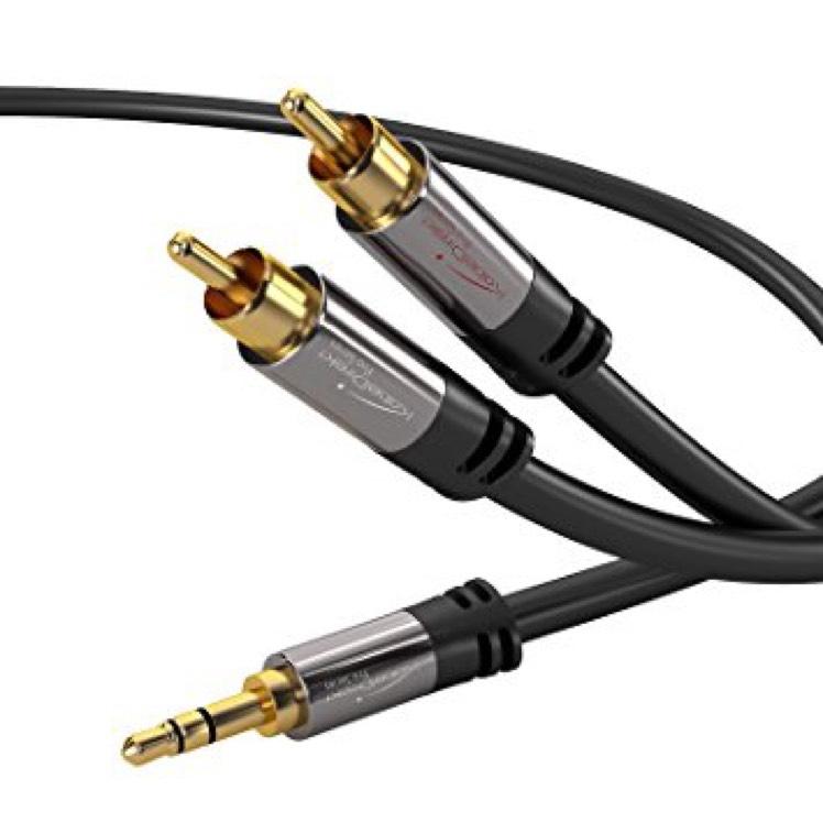 Câble Stéréo Jack KabelDirekt 3.5mm vers 2x RCA - 2 mètres