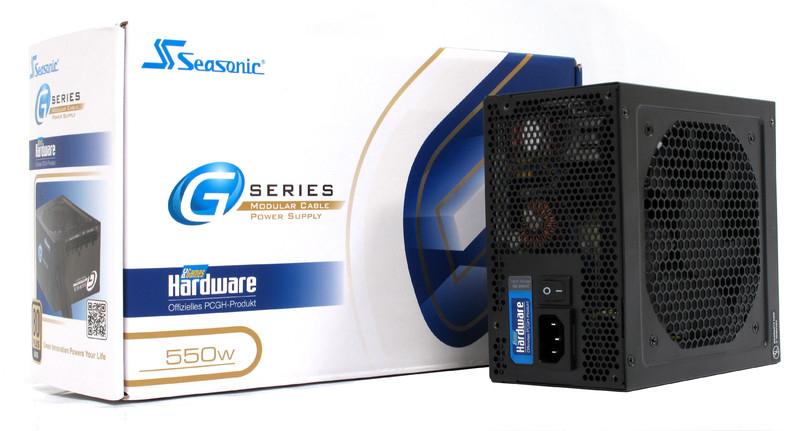 Alimentation Seasonic G-Series G-550 PCGH-Edition - Certification 80Plus Gold, 550W, Semi modulaire, Ventilateur 120mm, Garantie 5 ans