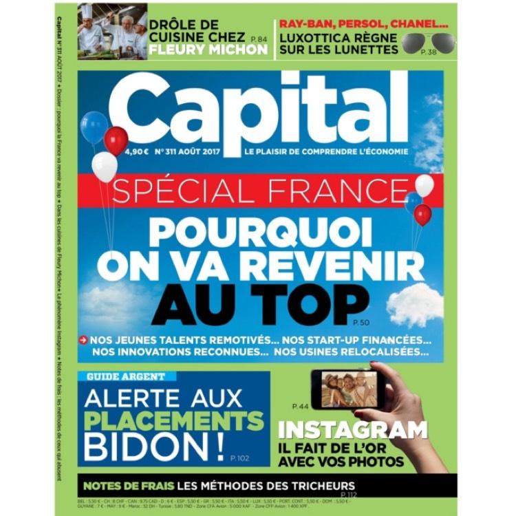 Abonnement d'un an au magazine mensuel Capital (Papier + Numérique)