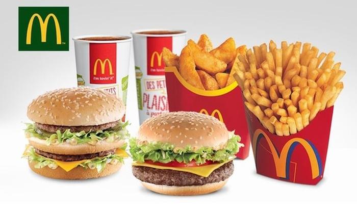 Lot de 2 menus Maxi Best Of (gamme permanente) chez McDonald's région Montpelliéraine (34)