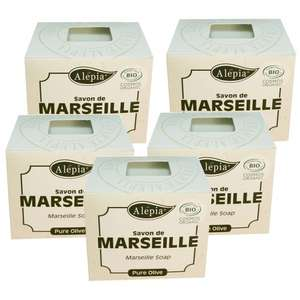 Lot de 5 savons de Marseille Bio Pure