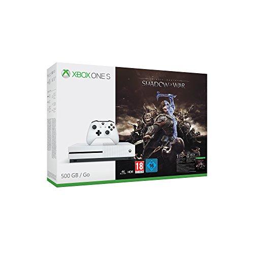 Pack console Microsoft Xbox One S (500 Go) + La Terre du Milieu : L'Ombre de la guerre (vendeur tiers)
