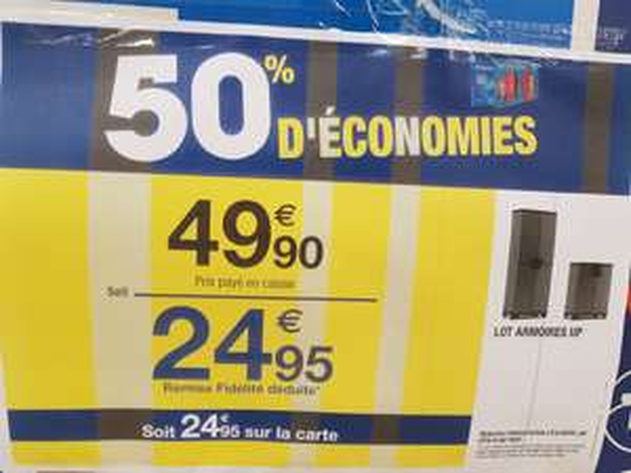 Lot Armoires Up (via 24.95€ fidélité, Carrefour Sartrouville - 78)